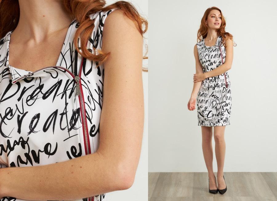 Joseph Ribkoff Graffiti Print Sleeveless Dress Style 211309