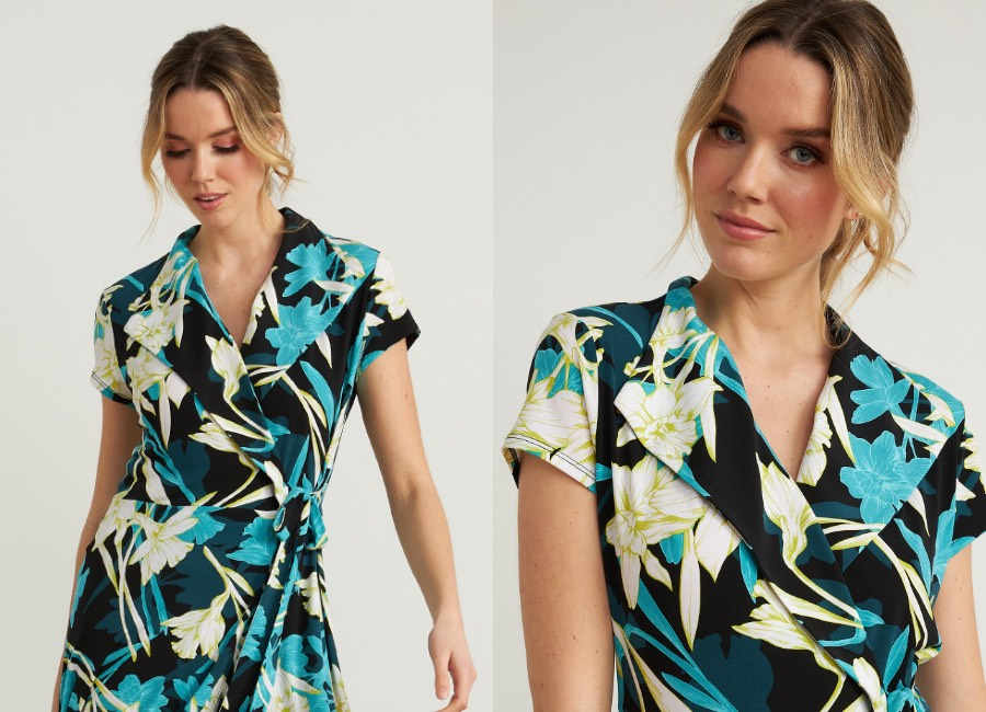 Joseph Ribkoff Floral Wrap Dress Style 212151