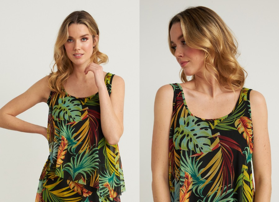 Joseph Ribkoff Tropical Maxi Dress Style 212117