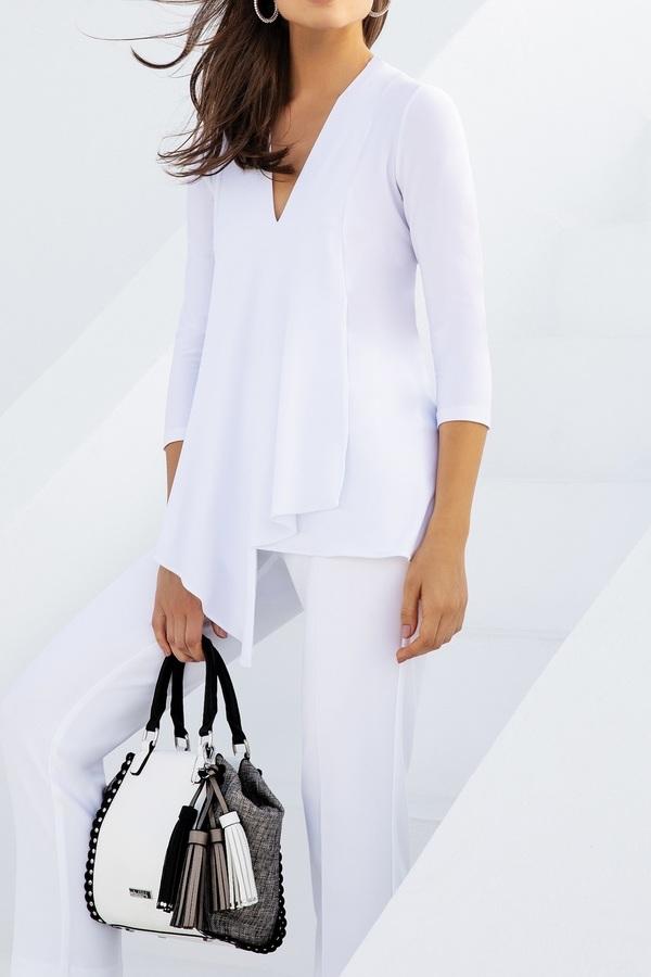 Joseph Ribkoff White Tunics Style 161066