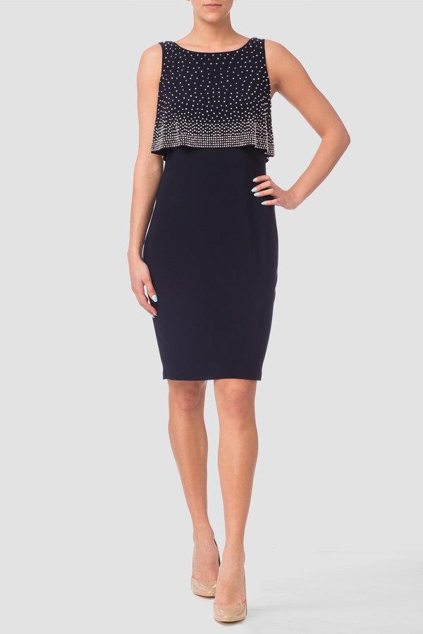 d52b92deb9dfdc Joseph Ribkoff dress style 173026 - Navy | 1ère Avenue