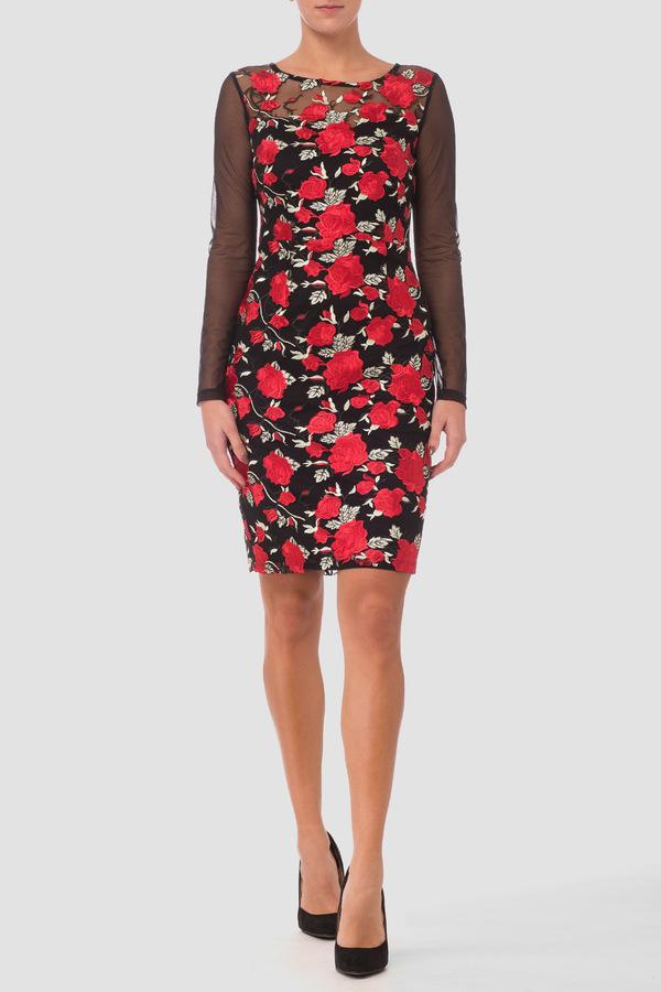 Joseph Ribkoff Robes Noir/Rouge/Vert Style 181504