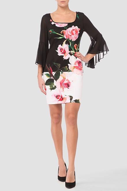 Joseph Ribkoff Black/White/Pink Dresses Style 181733