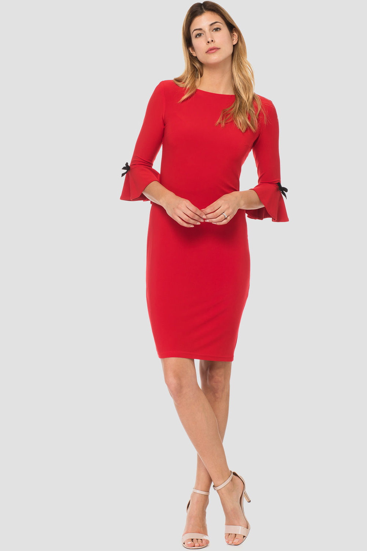 Joseph Ribkoff Lipstick Red 173 Dresses Style 183039