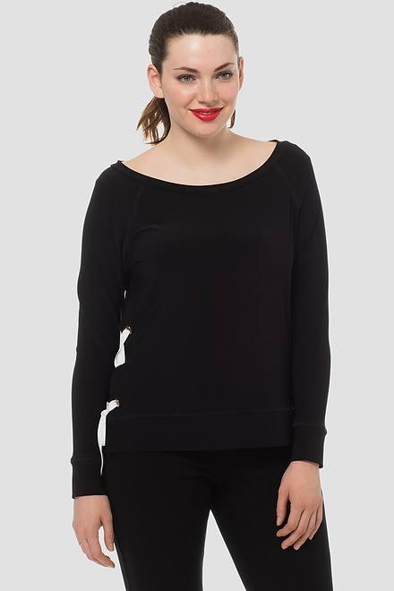 Joseph Ribkoff Chemises et blouses Noir/Vanille Style 183165