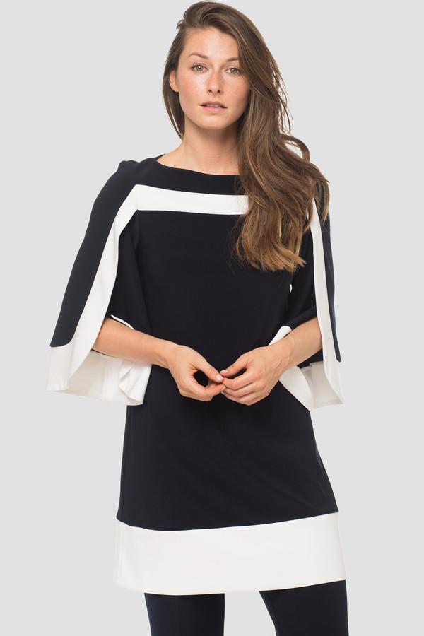 Joseph Ribkoff Midnight Blue/Vanilla Dresses Style 183190