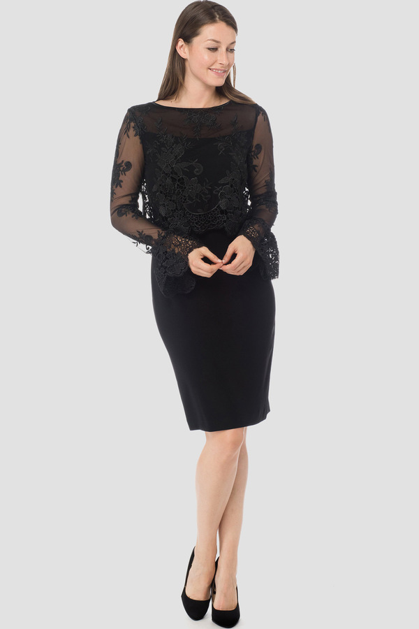 f8a6fd42376 Joseph Ribkoff dress style 183513 - Black