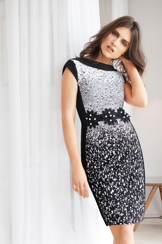Joseph Ribkoff Black/White Dresses Style 183543