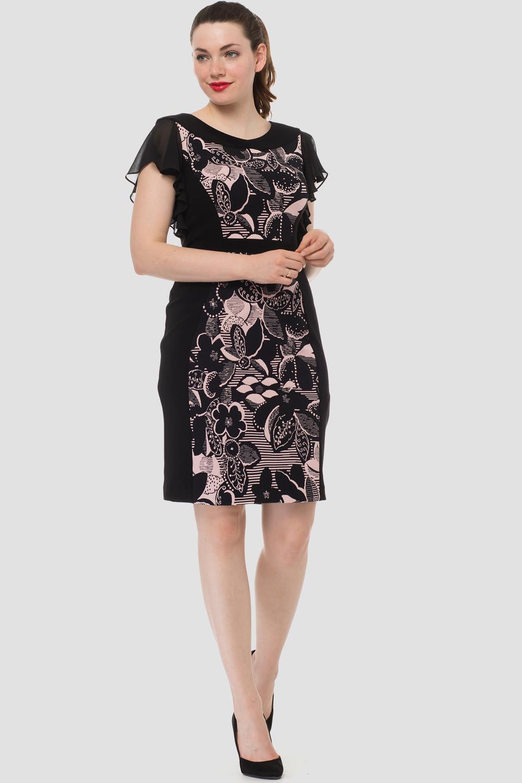 Joseph Ribkoff Robes Noir/Rose Style 183607