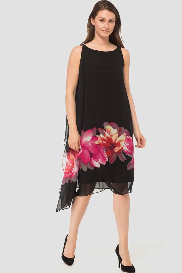 Joseph Ribkoff Black/Pink Dresses Style 183700