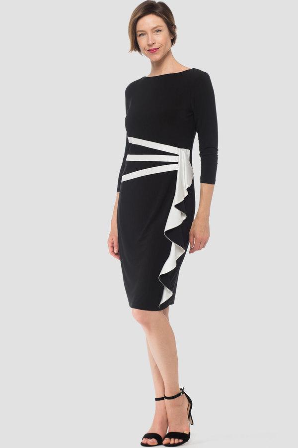Joseph Ribkoff Black/Off-white Dresses Style 184471