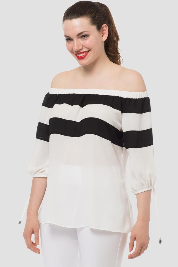 Joseph Ribkoff Chemises et blouses Blanc Cassé/Noir Style 183281