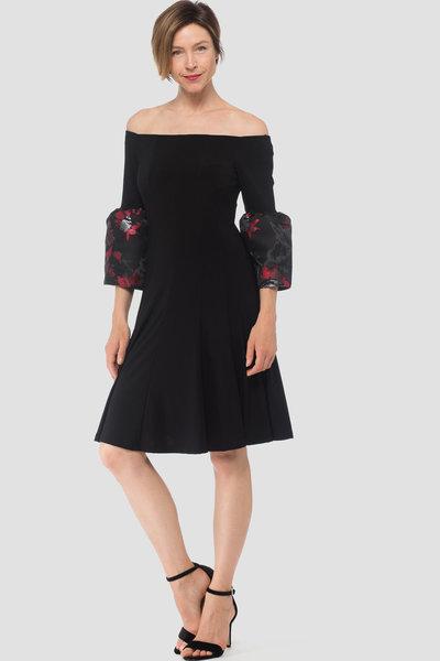 Joseph Ribkoff Robes Noir/Rouge/Gris Style 184752