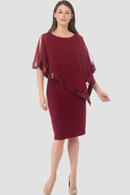 Joseph Ribkoff CRANBERRY/CRANBERRY Dresses Style 154377