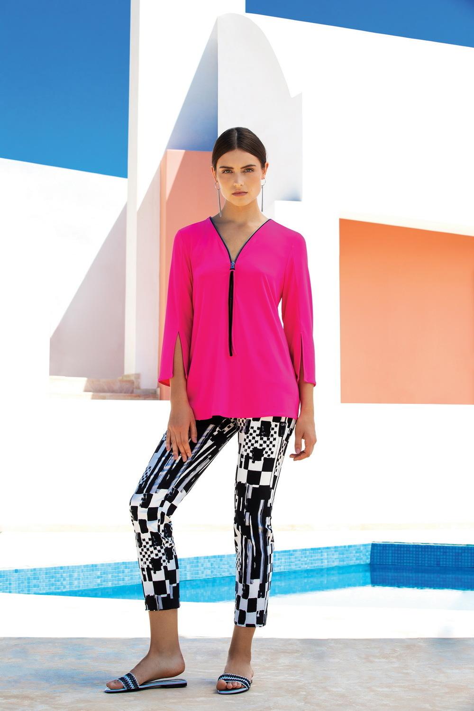 Joseph Ribkoff Chemises et blouses Rose Neon/Noir Style 191143