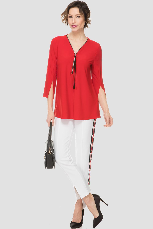 Joseph Ribkoff Chemises et blouses Rouge A Levres/Noir Style 191143