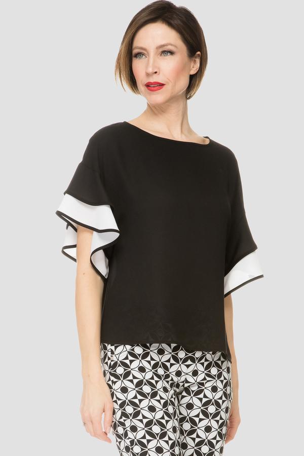 Joseph Ribkoff Tee-shirts et camisoles Noir/Blanc Cassé Style 191265