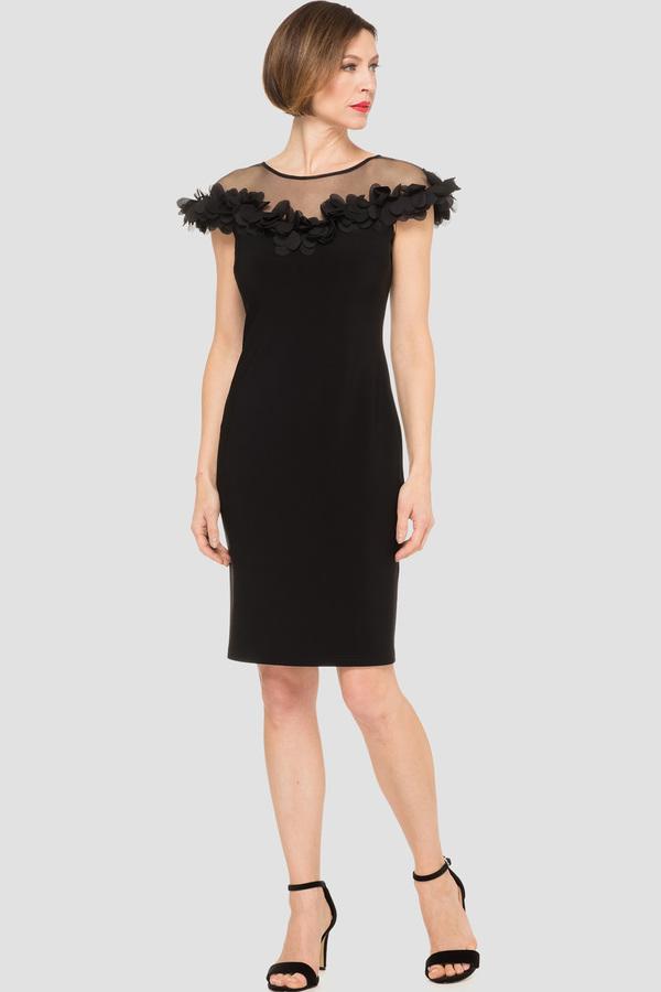 d46bf2add458 Joseph Ribkoff dress style 191305 - Black