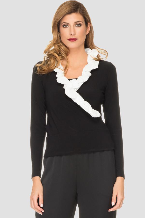 Joseph Ribkoff Chemises et blouses Noir/Vanille Style 191450