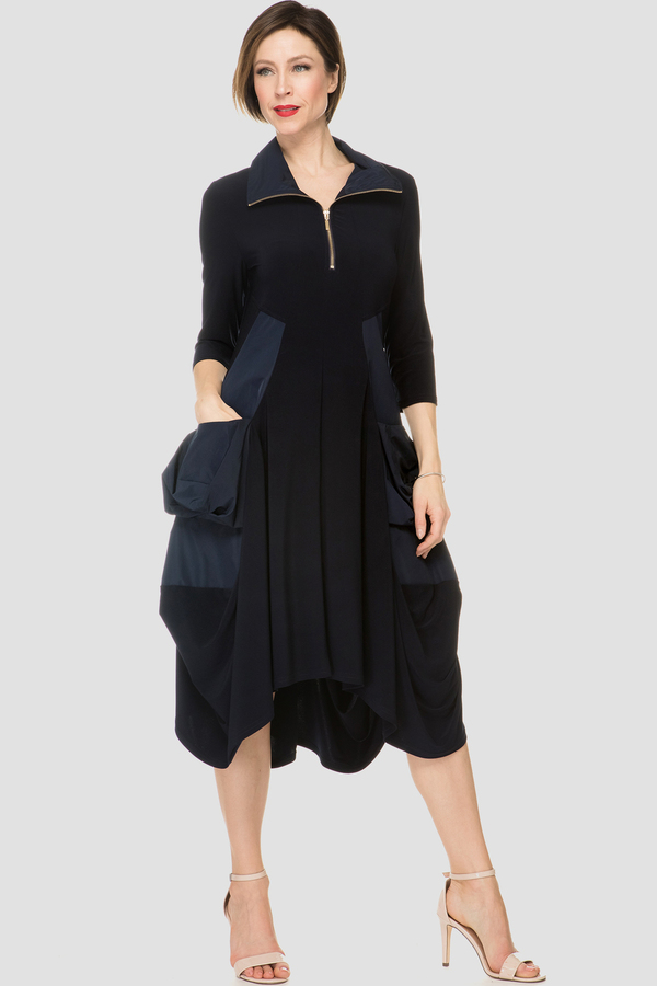 03d6f21620581e Joseph Ribkoff dress style 191452X - Navy | 1ère Avenue