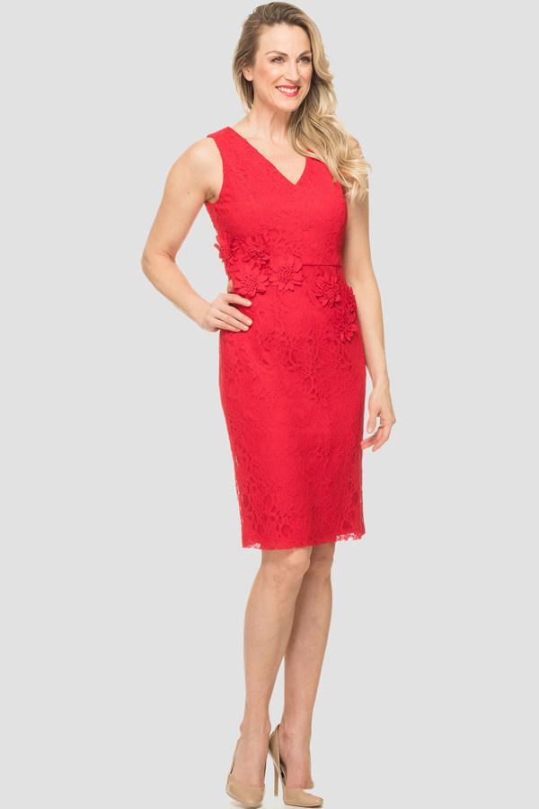 Joseph Ribkoff Red Dresses Style 191517