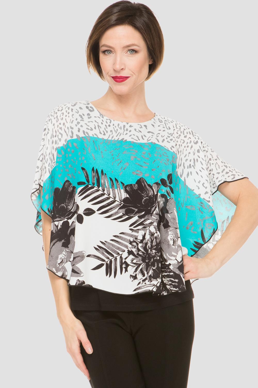 Joseph Ribkoff Chemises et blouses AQUA / MULTI / NOIR Style 191601