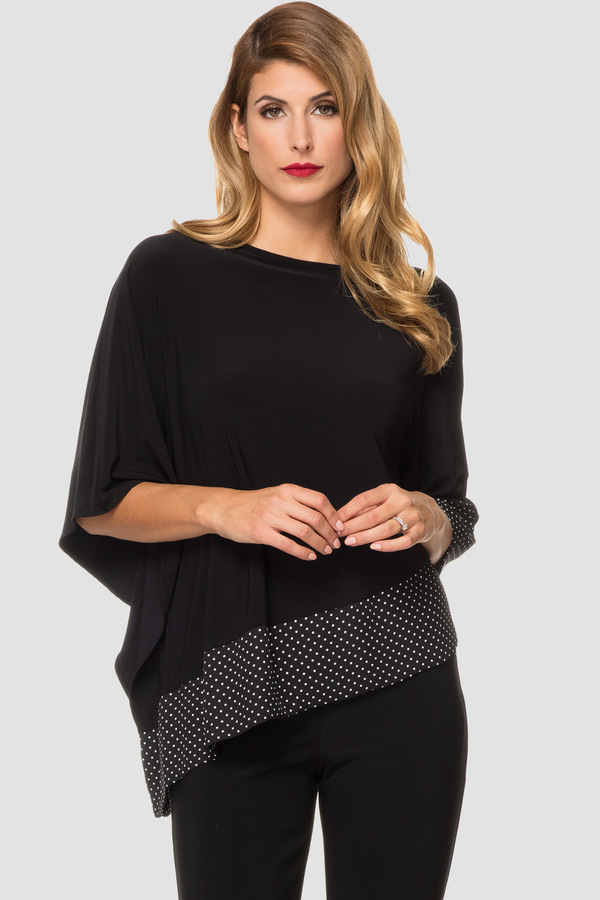 Joseph Ribkoff Chemises et blouses Noir/Blanc Style 191608
