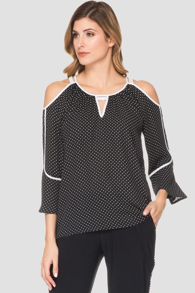 Joseph Ribkoff Chemises et blouses Noir/Blanc Style 191611