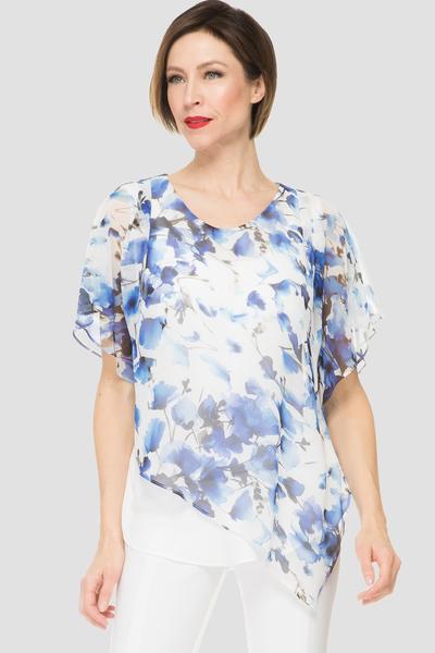Joseph Ribkoff White/Blue Tops Style 191620