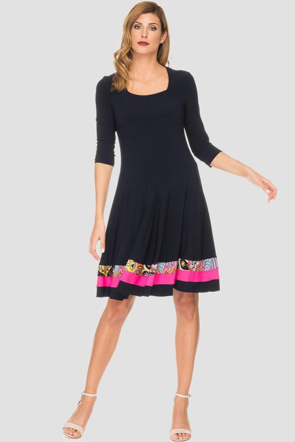 Joseph Ribkoff Midnight Blue/Multi Dresses Style 191660