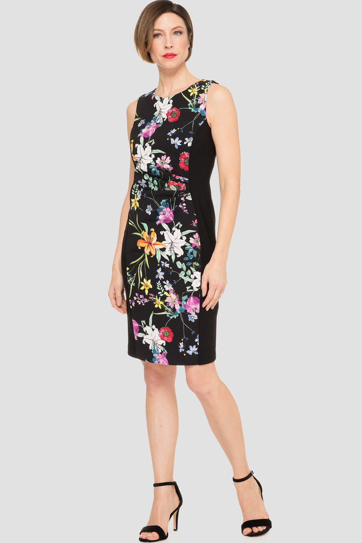 Joseph Ribkoff Black/Multi Dresses Style 191667