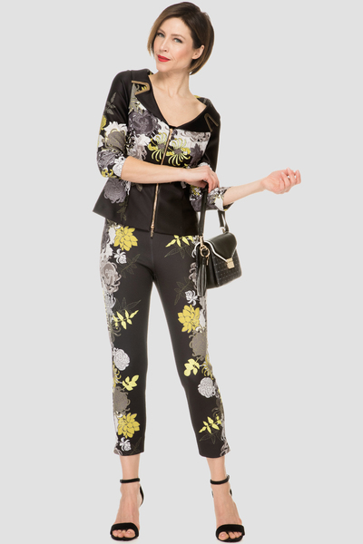 Joseph Ribkoff Black/Multi Pants Style 191705