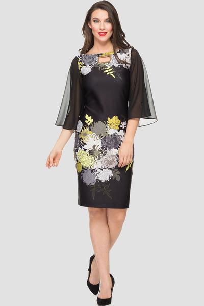 Joseph Ribkoff Robes Noir/Multi Style 191706
