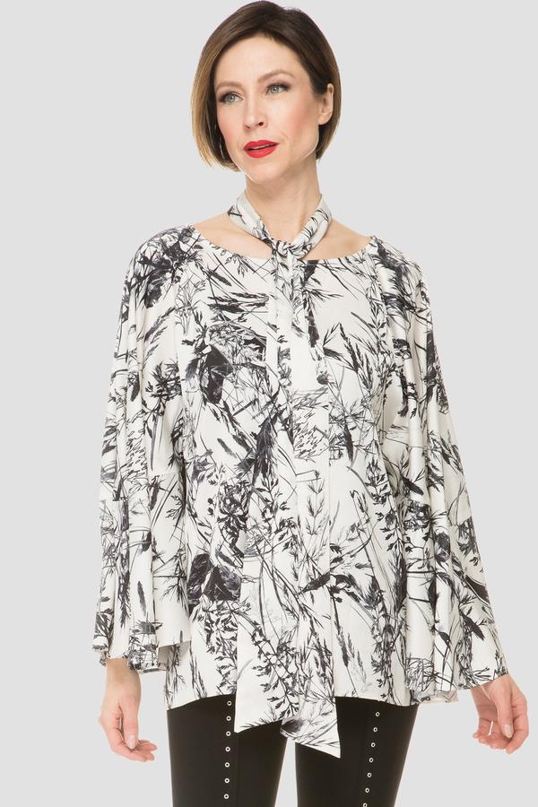 Joseph Ribkoff Cream/Black Shirts & Blouses Style 191780