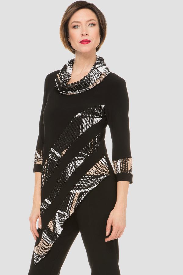 Joseph Ribkoff Chemises et blouses Noir/Taupe Style 191787