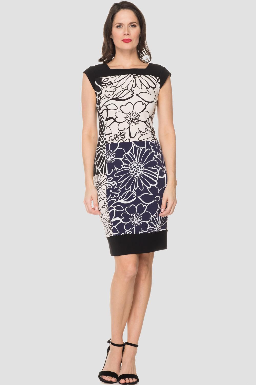Joseph Ribkoff BLUE/BLACK/WHITE Dresses Style 191793