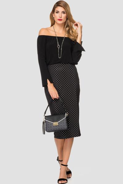 Joseph Ribkoff Black/Silver Skirts Style 191797