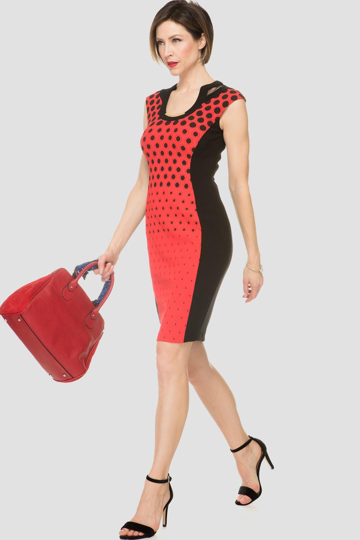 Joseph Ribkoff Black/Red Dresses Style 191896