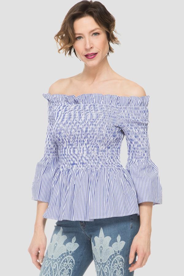Joseph Ribkoff Blue/White Shirts & Blouses Style 191932