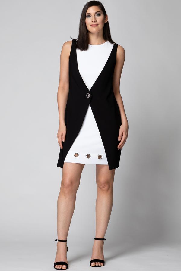 5f818bcaa1f Joseph Ribkoff tunic dress style 192060 - Black White