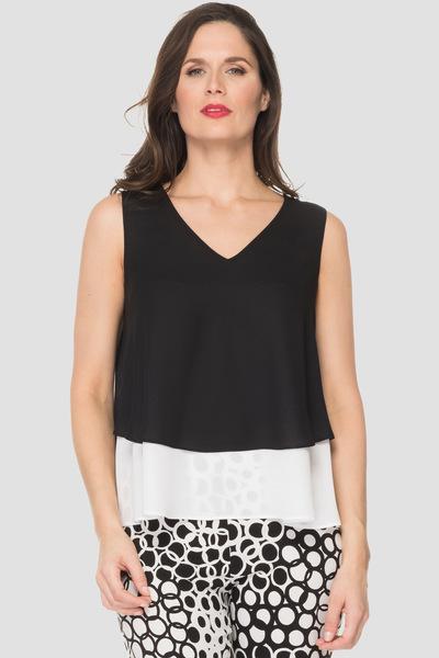 Joseph Ribkoff Tee-shirts et camisoles Noir/Blanc Style 192253