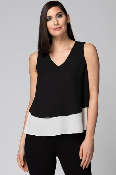 Joseph Ribkoff Black/Champagne Tees & Camis Style 192253