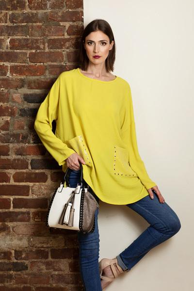 Joseph Ribkoff Lime Shirts & Blouses Style 192408