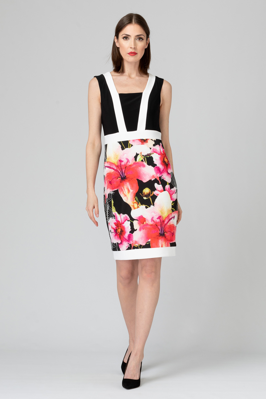 Joseph Ribkoff Black/Multi Dresses Style 192642