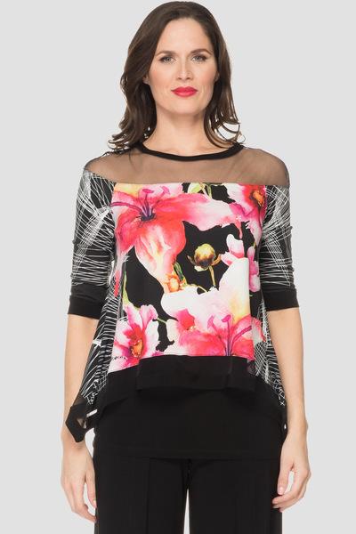 Joseph Ribkoff Black/Multi Shirts & Blouses Style 192643