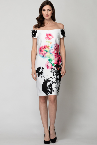 Joseph Ribkoff Robes Blanc/Multi Style 192708