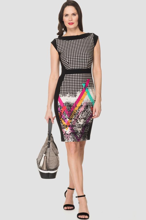Joseph Ribkoff Black/Beige/Multi Dresses Style 192768