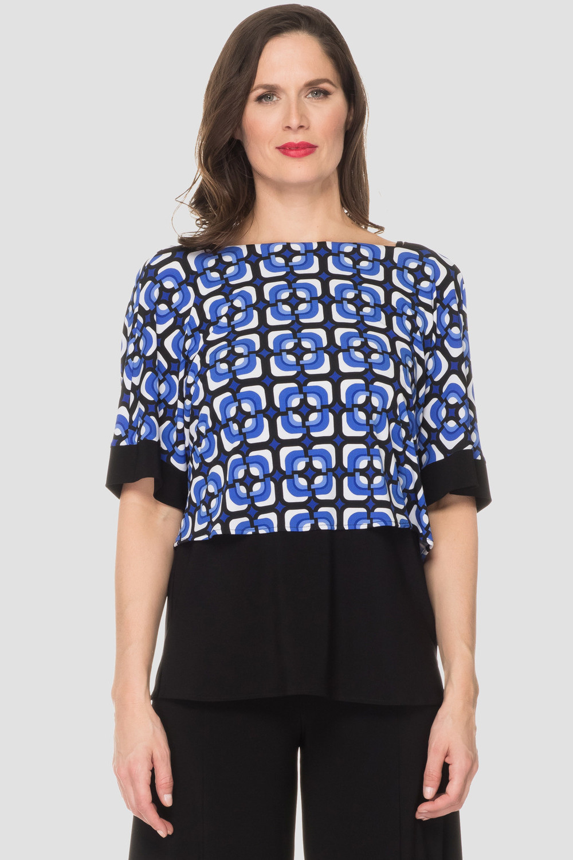 Joseph Ribkoff Chemises et blouses Noir/Bleu Style 192796