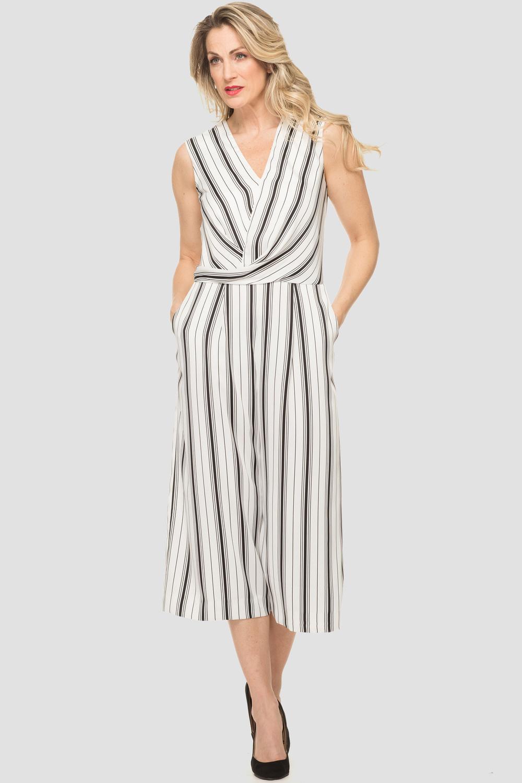 Joseph Ribkoff White/Black Jumpsuits Style 192904