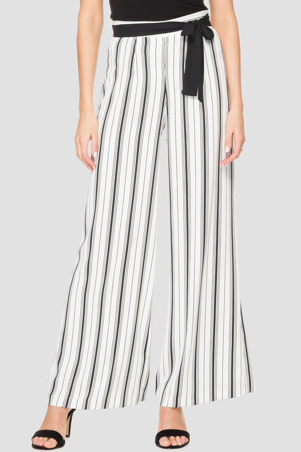 Joseph Ribkoff White/Black Pants Style 192905